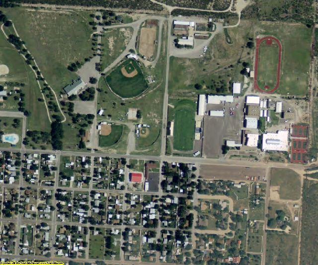 Reagan County, TX aerial photography detail