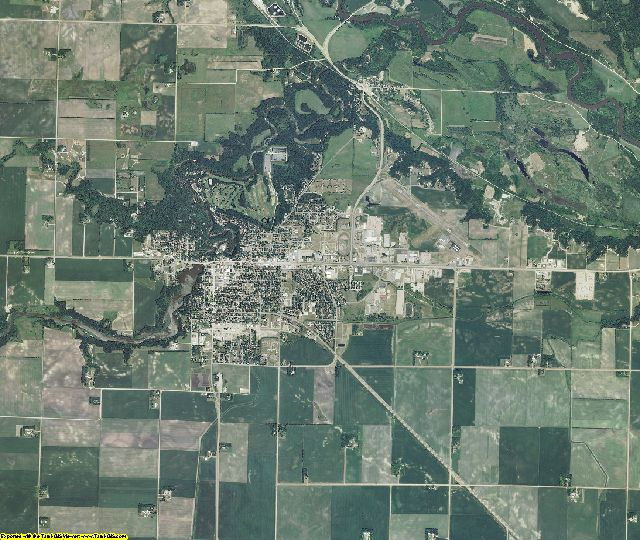 Redwood County, Minnesota aerial photography