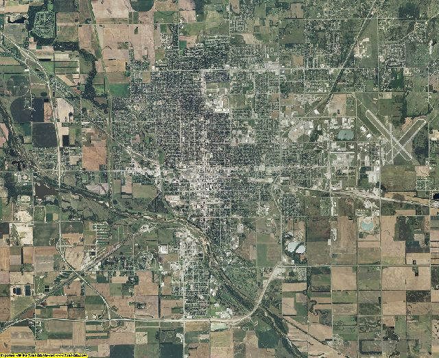 Reno County, Kansas aerial photography