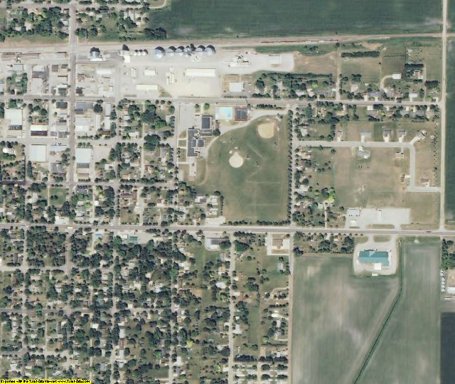 Renville County, MN aerial photography detail