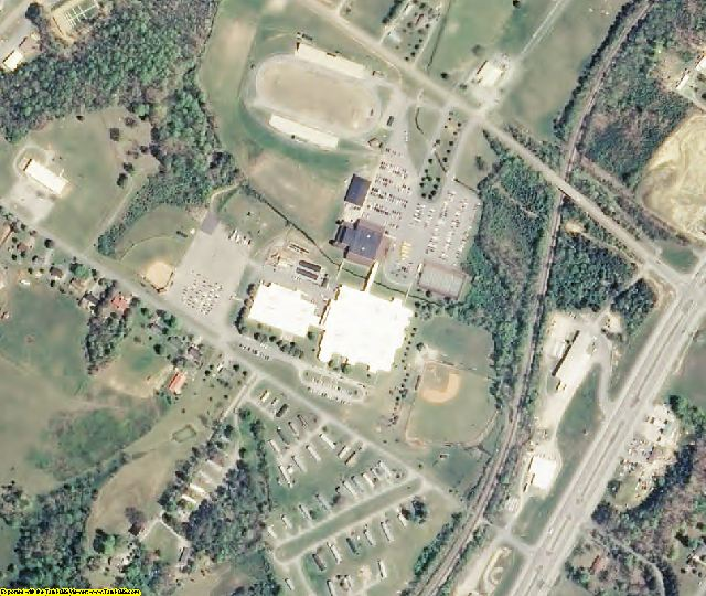 Rhea County, TN aerial photography detail
