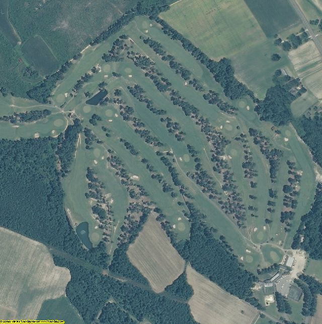 Robeson County, NC aerial photography detail
