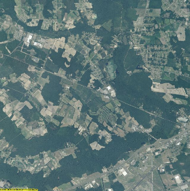 Robeson County, North Carolina aerial photography
