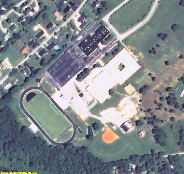 Rockcastle County, KY aerial photography detail