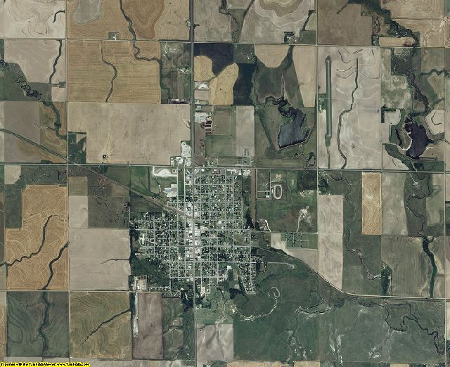 Rush County, Kansas aerial photography