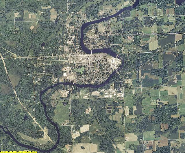 Rusk County, Wisconsin aerial photography