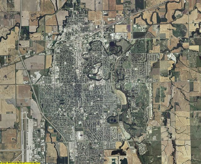 Saline County, Kansas aerial photography