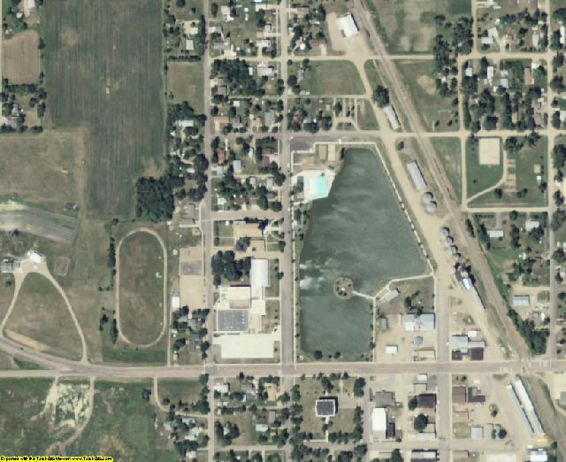 Sanborn County, SD aerial photography detail