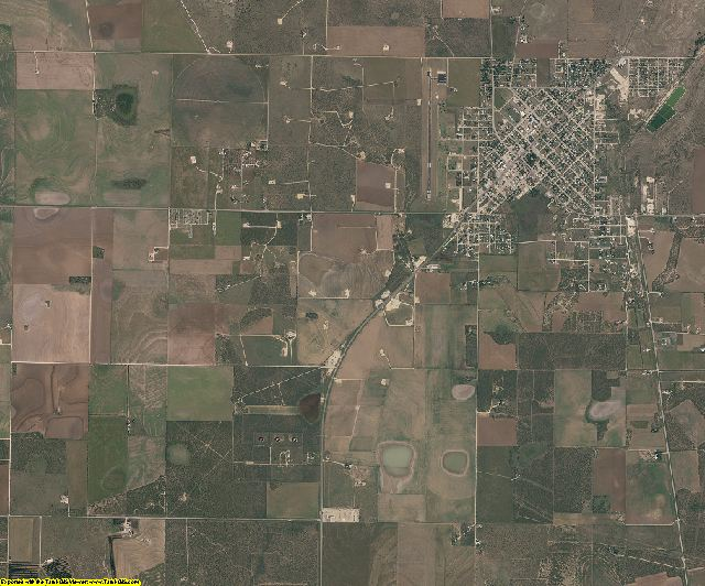 Schleicher County, Texas aerial photography