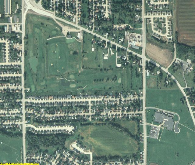 Scott County, IA aerial photography detail