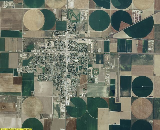 Scott County, Kansas aerial photography