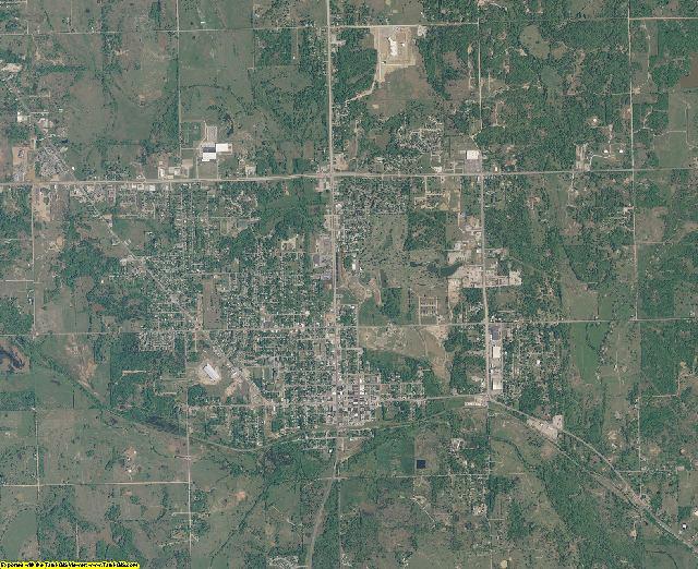 Seminole County, Oklahoma aerial photography