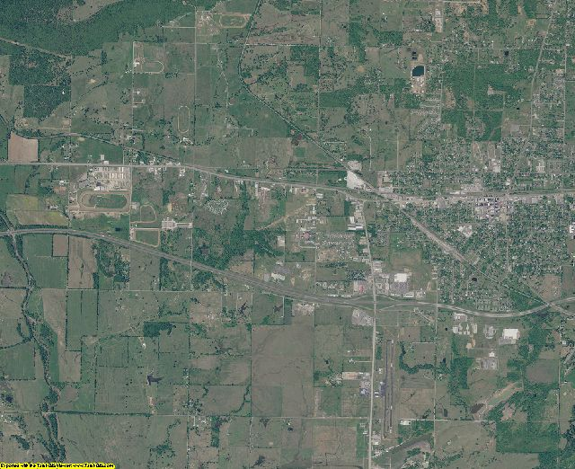 Sequoyah County, Oklahoma aerial photography
