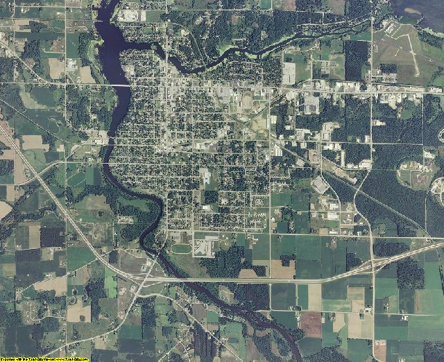 Shawano County, Wisconsin aerial photography