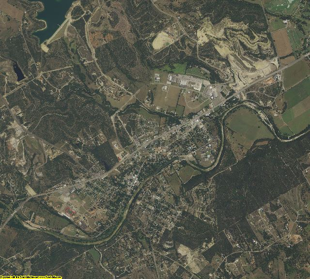 Somervell County, Texas aerial photography