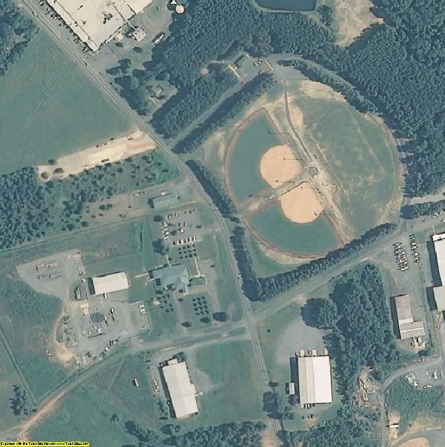 Stanly County, NC aerial photography detail