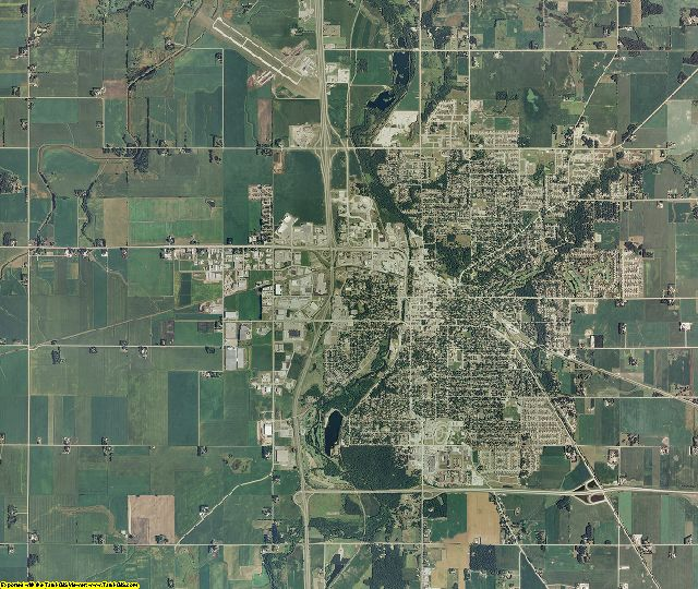 Steele County, Minnesota aerial photography