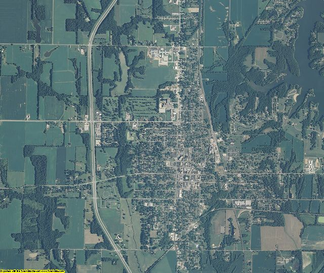 Sullivan County, Indiana aerial photography