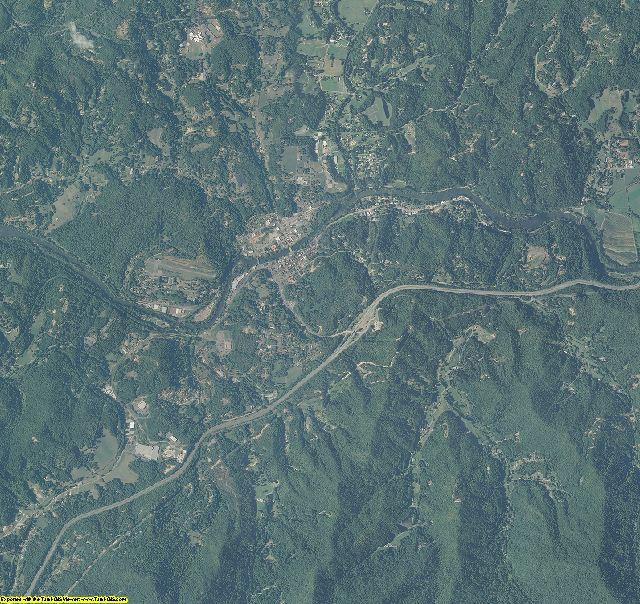 Swain County, North Carolina aerial photography