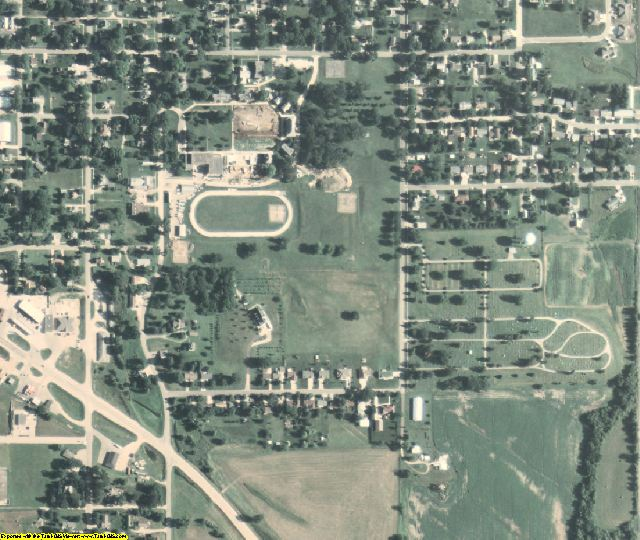 Tama County, IA aerial photography detail