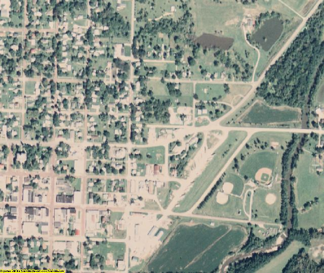 Taylor County, IA aerial photography detail