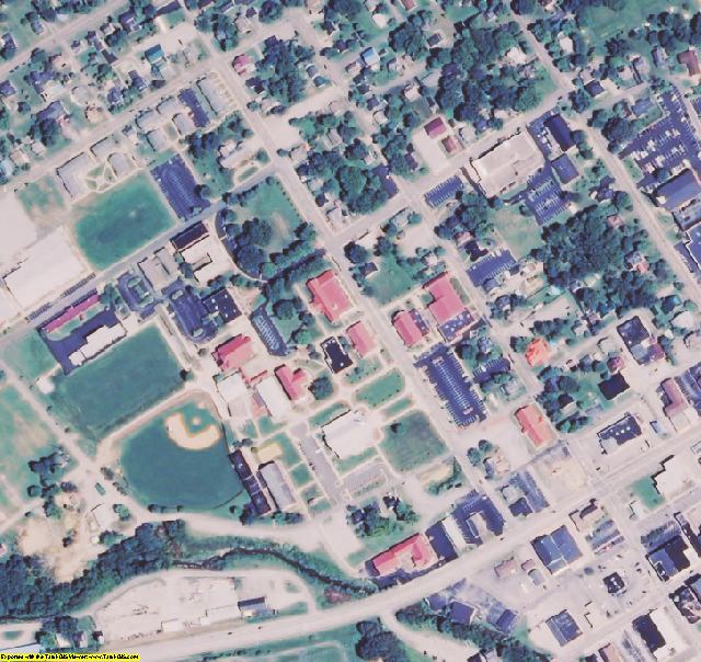 Taylor County, KY aerial photography detail