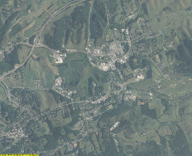 Tazewell County, Virginia aerial photography