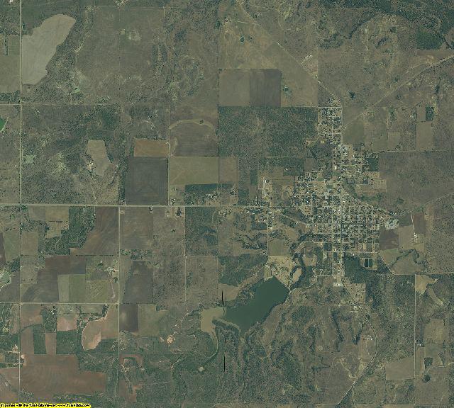Throckmorton County, Texas aerial photography