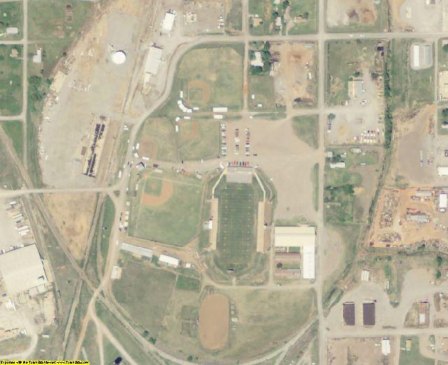 Tillman County, OK aerial photography detail