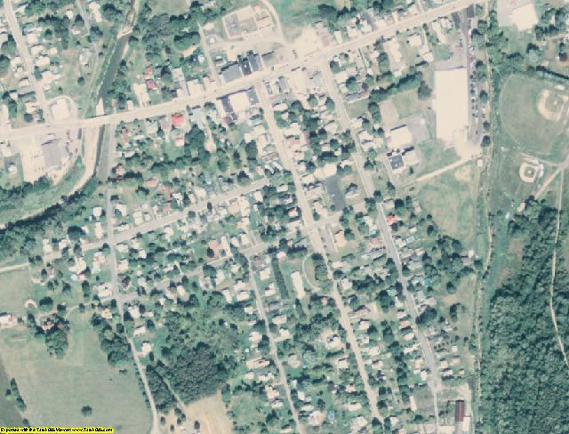 Tioga County, PA aerial photography detail