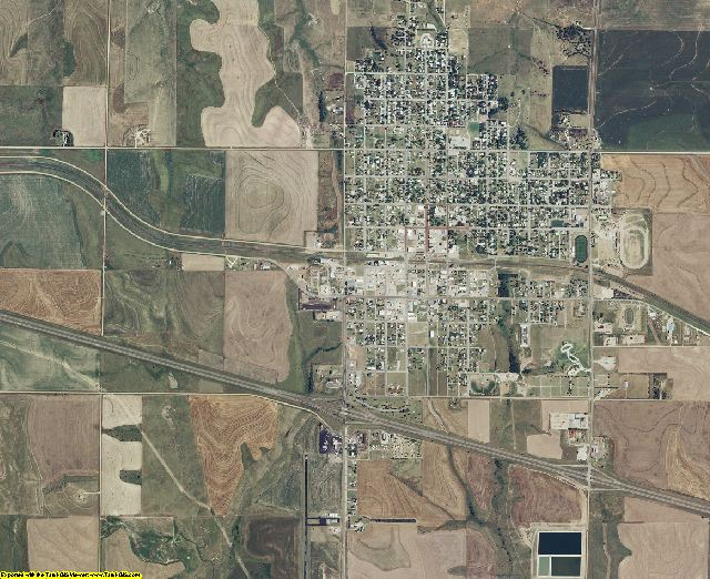 Trego County, Kansas aerial photography
