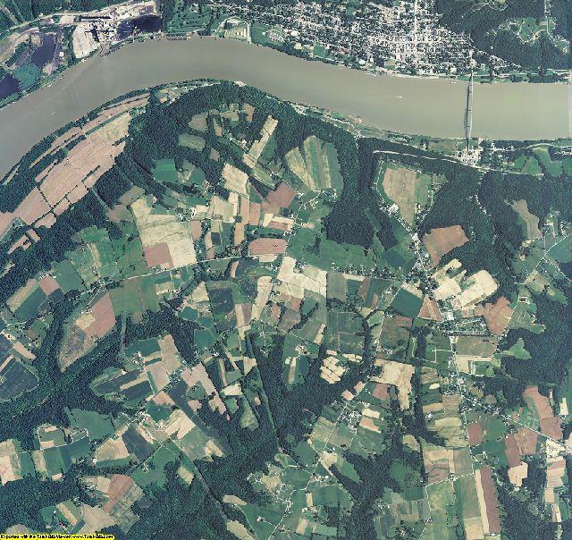 Trimble County, Kentucky aerial photography