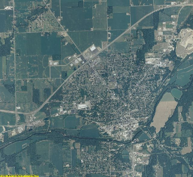Wabash County, Indiana aerial photography