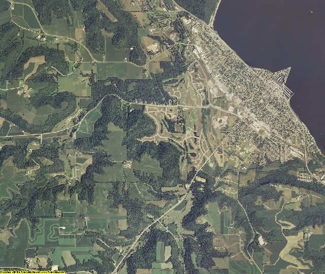 Wabasha County, Minnesota aerial photography