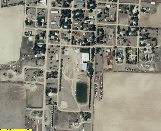 Wallace County, KS aerial photography detail