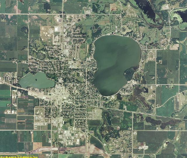 Waseca County, Minnesota aerial photography