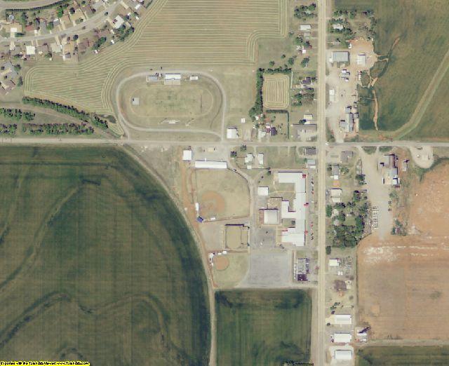 Washita County, OK aerial photography detail