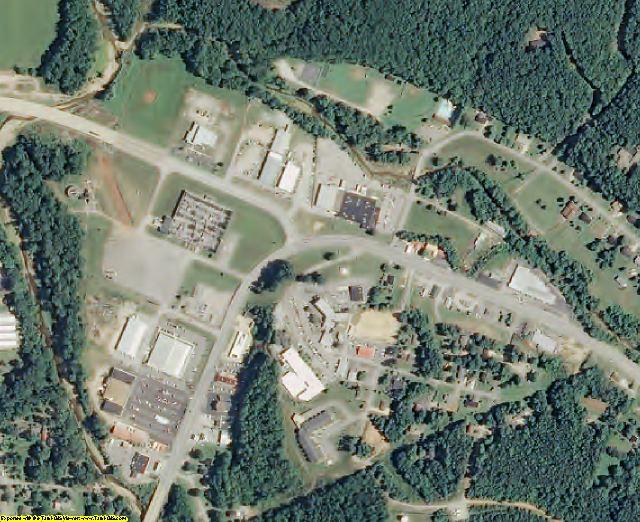Wayne County, TN aerial photography detail