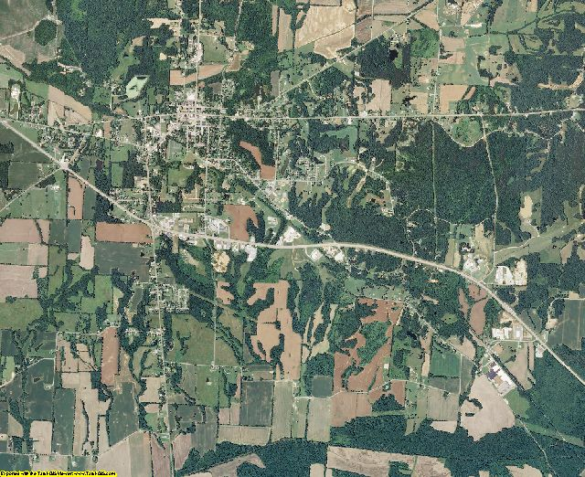 Weakley County, Tennessee aerial photography