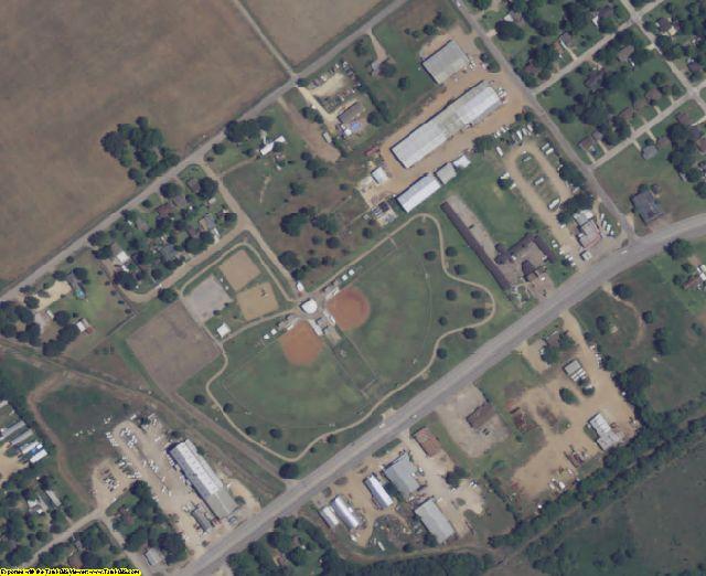 Wharton County, TX aerial photography detail