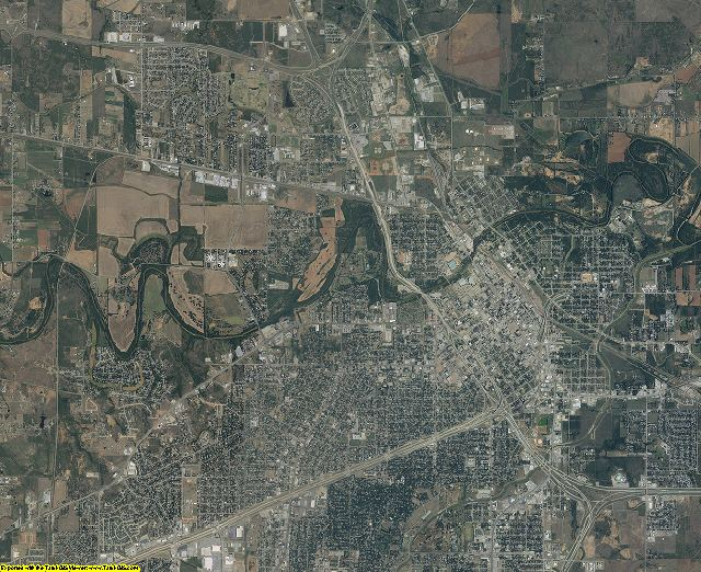 Wichita County, Texas aerial photography