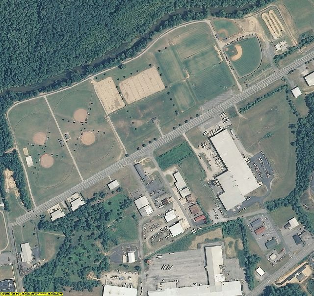 Wilkes County, NC aerial photography detail
