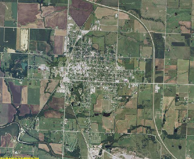 Wilson County, Kansas aerial photography