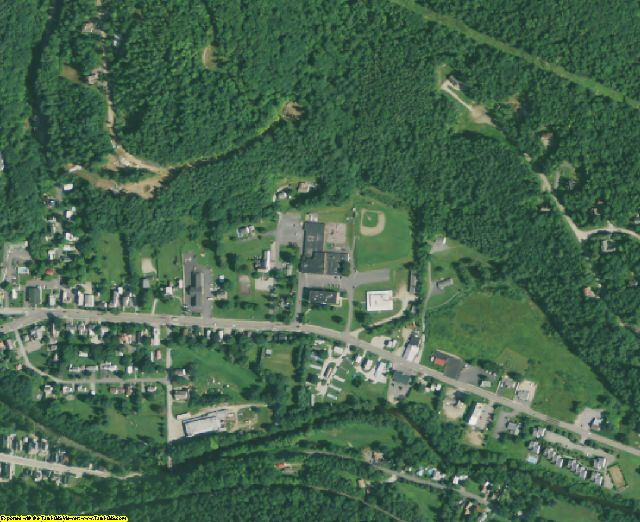 Windsor County, VT aerial photography detail