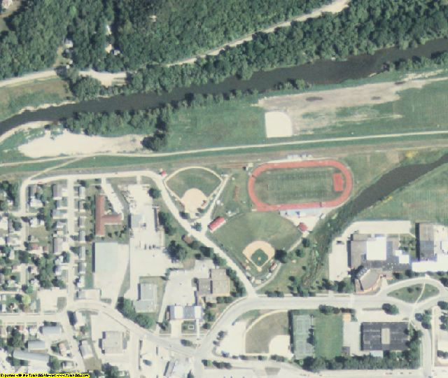Winneshiek County, IA aerial photography detail