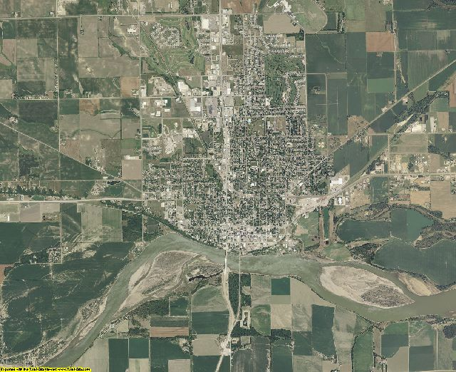 Yankton County, South Dakota aerial photography
