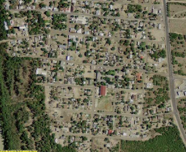 Zapata County, TX aerial photography detail