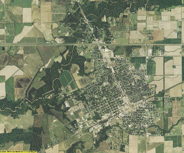 Acadia County, Louisiana aerial photography