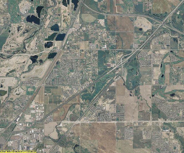 Adams County, Colorado aerial photography