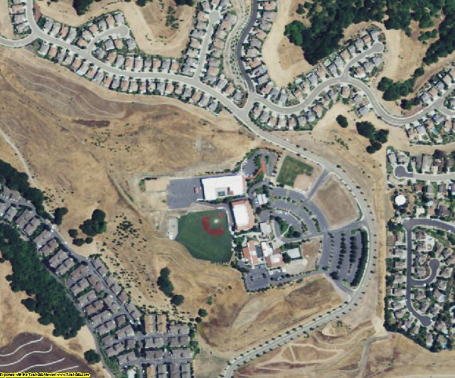 Alameda County, CA aerial photography detail